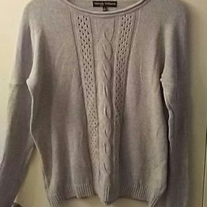 SWEATERWENDY WILLIAMS M CABLE FRONT DESIGN SWEATER
